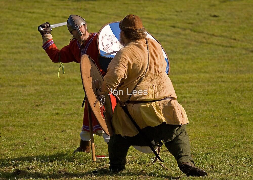 Vikings in battle by Jon Lees