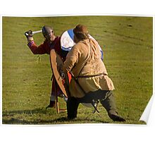 Vikings in battle Poster
