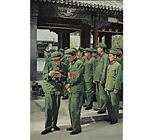 Chinese Soldiers  Photographic Print