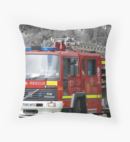 East Sussex Fire Engine Throw Pillow