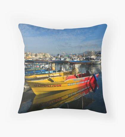 Mexican Boats Throw Pillow