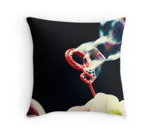 not so red bubble Throw Pillow