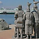 Watching the ferries come in by Barb White