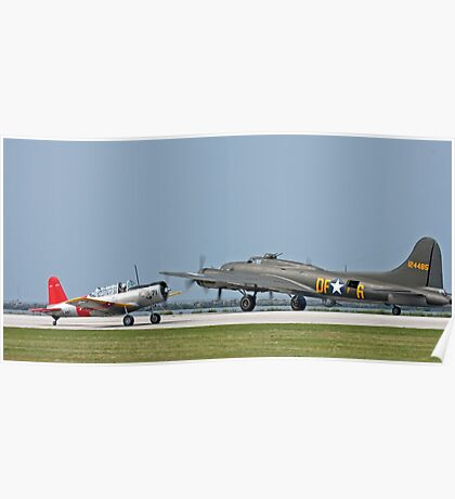 Two WWII Aircraft Poster