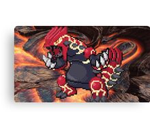 Groudon: Legendary Pokemon Canvas Print
