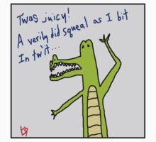 """Gator Poet"" by Richard F. Yates Kids Tee"