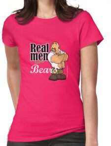 Real Men Love Bears - Military Womens Fitted T-Shirt