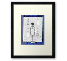Chair and Figure Abstract Framed Print