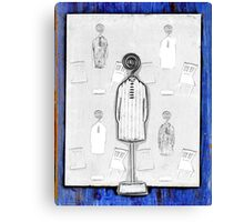Chair and Figure Abstract Canvas Print