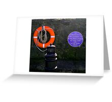 ...and this is why all lifebelts are orange! Greeting Card