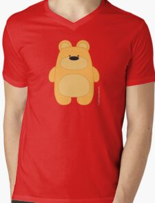 Bear Toy - Blond Mens V-Neck T-Shirt