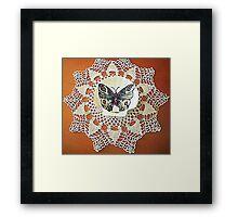 farfalla su merletto  Framed Print
