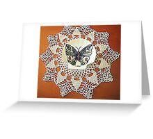 farfalla su merletto  Greeting Card
