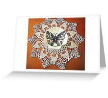 farfalla su merletto  Greeting Card