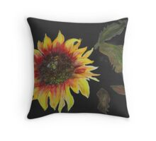 Janie's Sunflower Throw Pillow