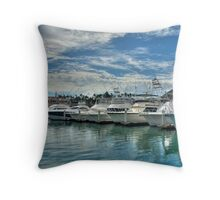 Row of Boats Throw Pillow