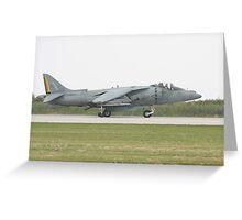 US Marine Harrier Greeting Card