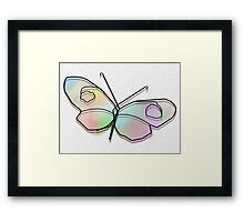 Wire Butterfly Framed Print
