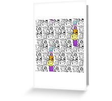 Puurrr-fect pattern Greeting Card