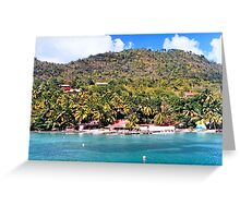 Location Beach in St. Lucia Greeting Card