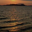 Sunset over Pic Island Marathon Ontario Canada by loralea