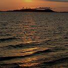 Sunset over Pic Island Marathon Ontario Canada by loralea
