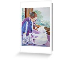 Good Morning Puppy Greeting Card