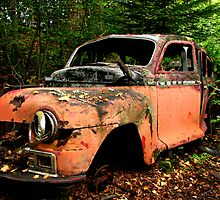 Rusted car at Jackfish Ontario by loralea