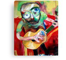 a man with a guitar Canvas Print