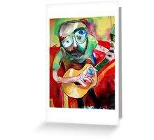 a man with a guitar Greeting Card