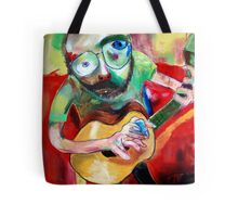 a man with a guitar Tote Bag