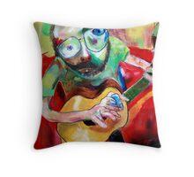 a man with a guitar Throw Pillow
