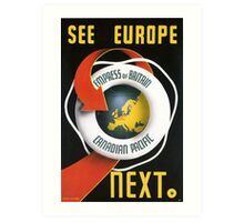 Europe Travel Poster  Canadian Pacific Art Print