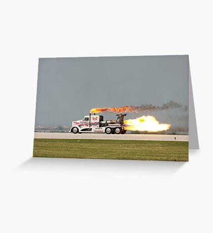 Jet Truck Greeting Card