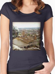 England - View from the Eye Women's Fitted Scoop T-Shirt