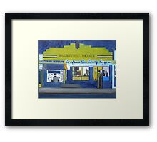 Pizza Lounge at Night Framed Print