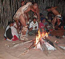 San (Kalahari Bushmen) Healing Ceremony, Botswana by Adrian Paul