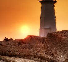 Lighthouse sunset by Bruce Taylor
