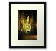 Alleyway - Vienna, Austria Framed Print