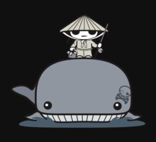Whale Fishing Kids Tee