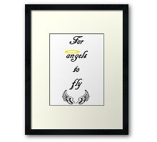 A team song quote Framed Print