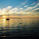 Sunset on Lake Huron - Kincardine, Ontario by Eric Cook