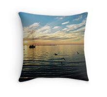 Sunset on Lake Huron - Kincardine, Ontario Throw Pillow
