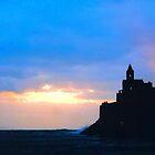 Portovenere, Liguria, Italy - St. Peter's church at Sunset by Igor Pozdnyakov