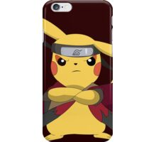 pokemon naruto pikachu cute chibi anime shirt iPhone Case/Skin