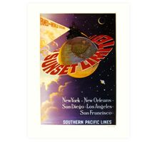 South Pacific Lines Railway Poster Art Print