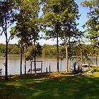 Small Over Flow Lake by Wanda Raines