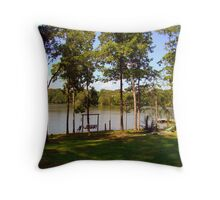 Small Over Flow Lake Throw Pillow