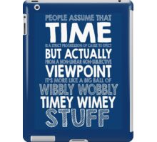 Doctor Who Timey Wimey iPad Case/Skin