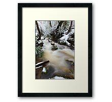 Winter at Crator Creek, Cradle Mountain National Park, Tasmania, Australia Framed Print